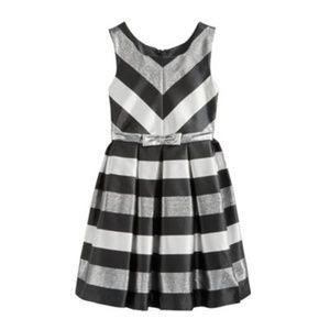 Iris&Ivy/Bonnie Jean Metallic Stripe Party Dress